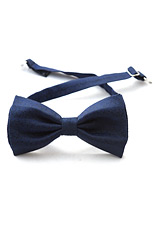 Gentlemen`s Corner Silk Bow Tie - Navy Floral