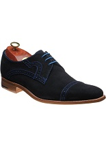 Barker Ashton Shoes - Navy / Blue Suede