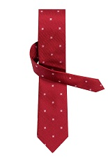 Gentlemen`s Corner Red Small Checks Silk Tie