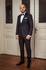 Gentlemen`s Corner Slim Fit Dinner Jacket - Hamilton Black