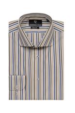 Blue & Green Wide Stripe Slim Fit Shirt