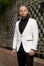 Gentlemen`s Corner Slim Fit White Dinner Jacket - Ambassador