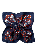 Gentlemen`s Corner Silk Pocket Square - Tivoli