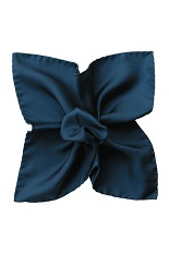 Gentlemen`s Corner Silk Pocket Square - Dusty Navy