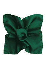 Gentlemen`s Corner Silk Pocket Square - Dark Green