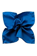 Gentlemen`s Corner Silk Pocket Square - Royal Blue