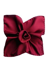 Gentlemen`s Corner Silk Pocket Square - Burgundy