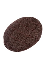 Balke Flatcap - Brown Herringbone