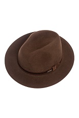 Panizza Fedora Hat - Brown