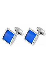 RT Blue Square Cufflinks