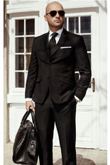 Gentlemen`s Corner Black Suit