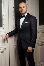 Gentlemen`s Corner Slim Fit Dinner Suit - Midnight Blue