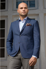 Gentlemen`s Corner Blue Casual Slim Fit Jacket -  Ambassador