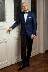 Gentlemen`s Corner Dark Blue Dinner Jacket - Clarence