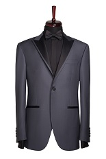 Gentlemen`s Corner Slim Fit Dinner Jacket - Lincoln Dark Grey