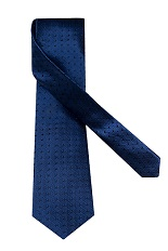 Gentlemen`s Corner Small Squares Blue Silk Tie