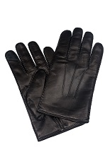 Gentlemen`s Corner Hairsheep Leather Gloves - Cashmere Lining