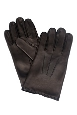 Gentlemen`s Corner Hairsheep Leather Gloves - Silk Lining