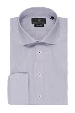 Black Fine Stripe White Shirt - Double Cuff