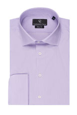 Lilac Fine Stripe Slim Fit Shirt - Double Cuff