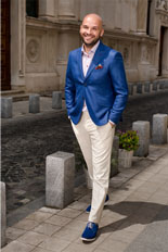 Gentlemen`s Corner Blue Slim Fit Blazer