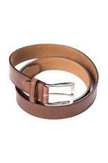 Gentlemen`s Corner Hand Painted Leather Belt - Brown