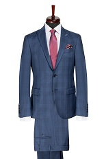 Gentlemen`s Corner Slim Fit Business Check Suit - Sherlock