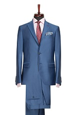 Gentlemen`s Corner Slim Fit Blue Business Suit - William