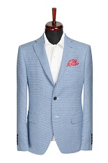 Gentlemen`s Corner Blue Slim Fit Jacket - Owen