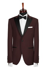 Gentlemen`s Corner Slim Fit Dinner Jacket - Grena