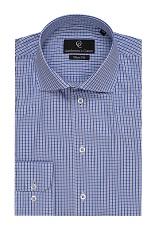 Blue Check Slim Fit Shirt - Alan