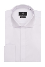 Kenny White Dress Shirt - Double Cuff