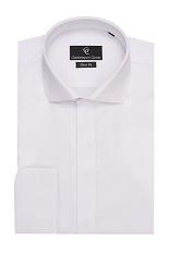 Kenny White Dress Shirt - Double Cuff