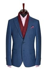 Gentlemen`s Corner Blue Casual Slim Fit Jacket - Charles
