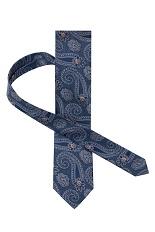 Gentlemen`s Corner Silk Tie - Navy Paisley