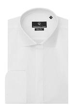 Jason White Dress Shirt - Double Cuff