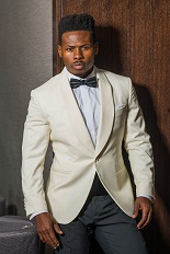 Gentlemen`s Corner Slim Fit White Dinner Jacket - Dakar