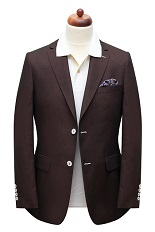 Gentlemen`s Corner Slim Fit Burgundy Jacket