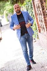 Gentlemen`s Corner Blue Check Slim Fit Jacket - Barbados