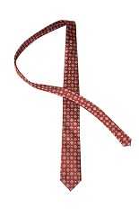 Gentlemen`s Corner Garnet Silk Tie - Geometric