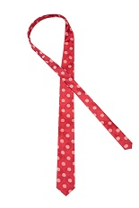 Gentlemen`s Corner Red Silk Tie - Geometric Pattern