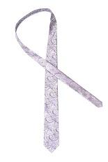 Gentlemen`s Corner Silk Tie - Lilac Paisley