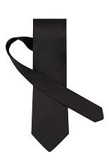 Gentlemen`s Corner Black Silk Tie