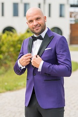 Gentlemen`s Corner Slim Fit Dinner Jacket - Purple