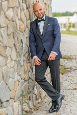 Gentlemen`s Corner Slim Fit Dinner Suit - Navy