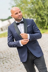 Gentlemen`s Corner Slim Fit Dinner Jacket - Navy