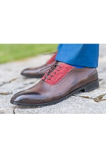 Gentlemen`s Corner Brown Leather Shoes - Made-to-Order