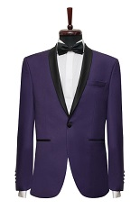 Gentlemen`s Corner Slim Fit Dinner Jacket - Thomas Purple