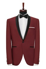 Gentlemen`s Corner Slim Fit Dinner Jacket - Thomas Bordeaux