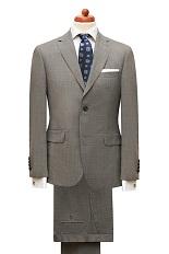 Gentlemen`s Corner Slim Fit Business Brown Suit